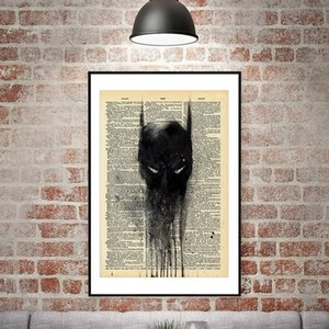Wall Decor Vintage Poster Shabby Chic Wall Sticker Newspaper Poster Anime Poster Retro Rustic Cafe Shop Bar Home Decoration VT0416
