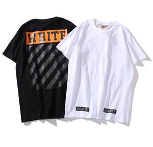 2019 nuova maglietta di cotone casuale di gioventù di marca di via europea e americana di moda a maniche corte maschio