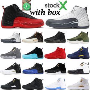2020 erkek basketbol ayakkabıları jumpman stok x 12 12s Oyun Kraliyet gribi maç Lig üçlü siyah beyaz Gym mens atletik spor ayakkabı kırmızı