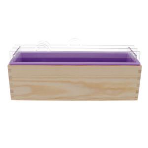 Силиконовые Мыло Mold делители Вуд Box DIY Тост буханка выпечки Cake Mold для свечи