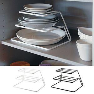 Top armoires de cuisine en couches égouttoir Fer Égoutter rack 3 couches plaque égouttoir étagère de rangement de cuisine Accessoires de rangement 04262 T200320