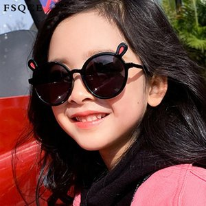 Fsqce 2020 Classique New Cat Eye Lunettes de soleil pour enfants Boy Girl Fashion Lunettes de soleil rétro Oculos De Sol Feminino UV400 TJAOY