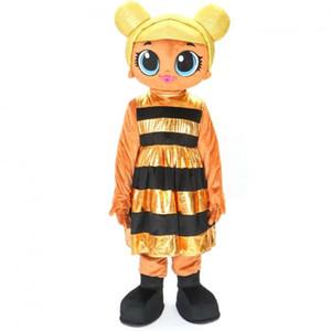 Costume Mascot abacaxi lol rainha abelha traje mascote fantasia dos desenhos animados traje frete grátis