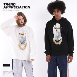 Mens Designer Hoodies Luxus Hiphop Wear Mode Trendy Masked Mans Sweater Trendy Lose Herren Kleidung 2019 New Womens Cool Pullover