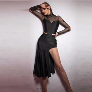 splicing latin dress salsa costumes tango dress dance wear latin dance women samba costume clothes for dancing