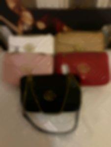 5colors Women shoulder bags women chain crossbody bag fashion quilted heart leather handbags female famous designer purse bag 26CM