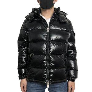 Piumino cappuccio degli uomini inverno uomo anatra parka Bianco giù cappotti stile Nero Blu Arancione Uomini Giù giacca uomo S-XXXL (UK S = CN L)