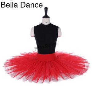 Red tulle child half ballet tutu practicing professional ballet tutu skirts women BT8923