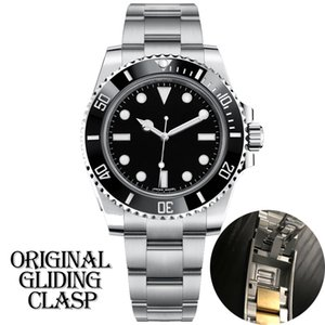 mens luxo designer de preto relógio automático fecho de cerâmica mecânica moldura completa Stainless Steel Original Gliding Sapphire 5ATM U1 à prova de água