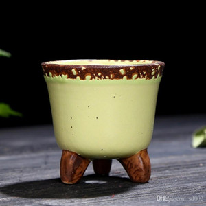 Mini Suculenta Fleshy Flowerpot Cerâmica Crude Colour Mix Pots polegar portátil Início desktop Decor Hot Sale 2 9yj E1