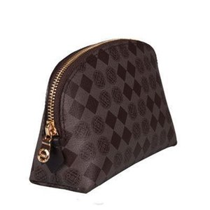 High quality canvas oxidized leather cosmetic bag famous brand designer cosmetic bag cosmetic case