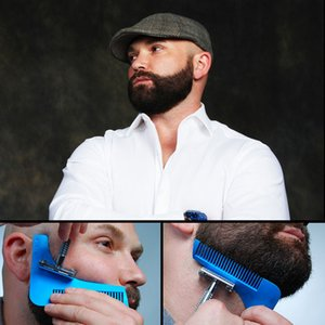 2020 con el paquete Barba Bro Shaping labra la herramienta Plantilla BARBA TALLADORA peine para Plantilla Barba herramientas de modelado 10 colores enviar por DHL
