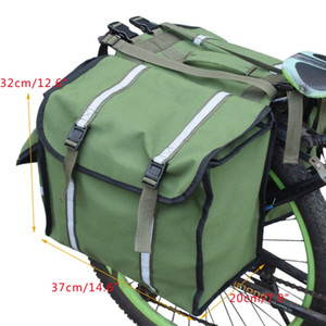2 Cycling 1 Rack Oxford Cloth Double Trunk Bicycle Mountain In Bag Side Rear Seat Tail Road Pannier Pack Luggage Carrier Ikrtw