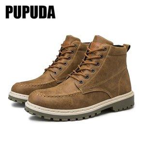 PUPUDA 2020 Caldo Inverno uomo Boots Lace up Pelle Stivaletti Uomini per l'alta qualità