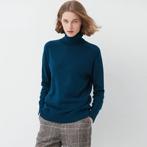 여성 겨울 모직 스웨터, 높은 칼라 카슈미르 스웨터, 넓고 느슨한 짧은 두꺼운 모직 셔츠
