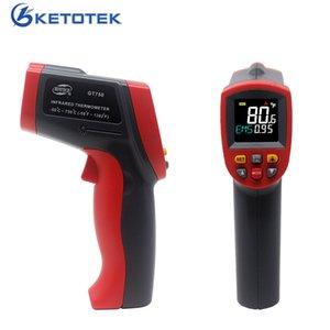 Temperatura Termómetro Infrarrojo Digital Medidor láser rojo detector IR sin contacto Pirómetro la temperatura del LCD Medidor Gun Point