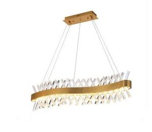 Wave Design lampada a cristallo lungo lampadario LED AC110V 220V cristal lucentezza barra di illuminazione kronleuchter casa MYY luce