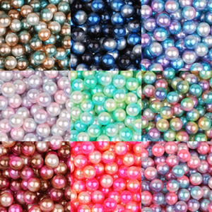 250Pcs Mixed Size 4/6/8 / 10mm NO Hole ABS Imitation Pearl Beads Round Loose Beads for Jewels Making DIYسوارات عقد ملحقات