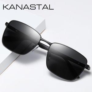 Brand Men Sunglasses Women Square Polarized Sun Glasses Vintage Eyewear Sun Glasses For Men Mental Frame Women UV400