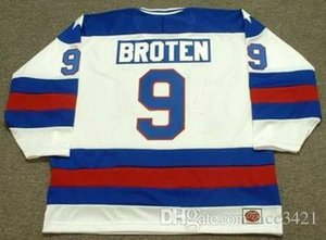 Custom Men Youth women Vintage #9 NEAL BROTEN 1980 USA Olympic CCM Hockey Jersey Size S-5XL or custom any name or number