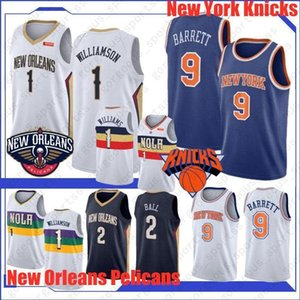 Zion 1 Williamson New 2019-20 Basketball Jersey R.J. 9 Barrett Lonzo 2 Ball Top Quality Hot Sales New