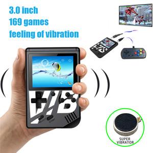 Jogador de jogo portátil vibratório colorido console de videogame portátil VIB pode armazenar 169 jogos suportam saída de TV Console de jogo vibratório livre DHL