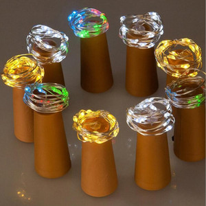 Lamp Cork Shaped Bottle Stopper Light Glass Wine LED Copper Wire String Lights For Xmas Party Wedding Halloween Decoration Party Gift DYP906