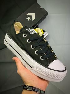 2020 Converse All Star xiaoyatou neuer schwarzer Hallo-Plattform Laufschuh Taylor 1970S Canvas Männer Frauen Schuhe Mode plimsolls Weiß Casual Schuhe
