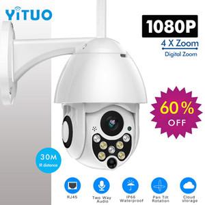 1080 마력 PTZ IP 카메라 야외 속도 돔 무선 와이파이 보안 카메라 팬 틸트 배 줌 IR 네트워크 CCTV 감시