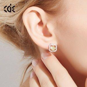 Moda-Yeni kadın S925 saf gümüş earnail basit ve taze kulak süsleri earnail dört yapraklı
