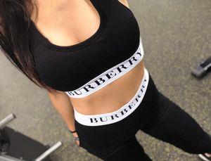 2019 marca de la mujer traje de yoga chaleco deportivo + leggings traje de gimnasio medias de correr para correr entrenamiento yoga leggings traje deportivo