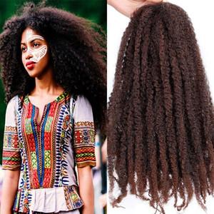 6 PC 전체 머리 18 ''Afro Marely 머리 띠 헤어 트위스트 크로 셰 뜨개질 머리카락 컬 컬 카펫 크로 셰 뜨개질 합성 머리카락 100g / 조각 패션 여성을위한