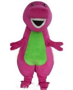 2019Hot vendita Barney Dinosaur dei costumi della mascotte di Halloween del fumetto adulto di formato vestito operato dal