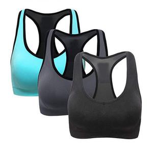 3 PC Sem Costura Sutiã Esportivo Mulheres Racerback Sutiãs Esportivos-High Impact Workout Activewear Bra Colheita Tops de Alta Impacto Activewear D