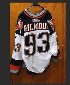 النساء مخصصة للرجال شباب خمر # 93 دوغ غيلمور بافالو السيوف 1999 CCM الهوكي جيرسي حجم S-5XL أو العرف أي اسم أو رقم