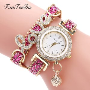 Korean-Style Students Love Fashion with Letter Love Full of Diamond Fashion Watch Womens Pendant Watch Explosion Models