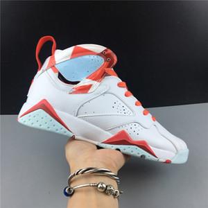 Nuove 7 VII gs 7S TOPAZ nebbia bianca FEMMINILE DONNE pallacanestro sneakers alta taglio sport formatori esterni con scatola di formato 4-7