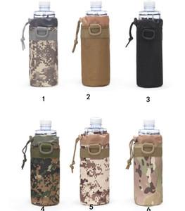 Tactical Camo Cupholder Outdoor Sports Wasserflasche Ärmel tragbare Wandern Reisen Radfahren Mount Packs einstellbare Schutztasche