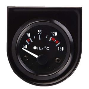 12V Car Racing 52mm Black Single Oil Thermometer Gauge