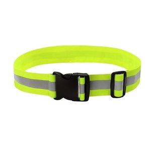 High Visibility Reflective Safety Elastic Waist Band Belt Sport Running Waistband Strap For Night Walking Biking Waist Support