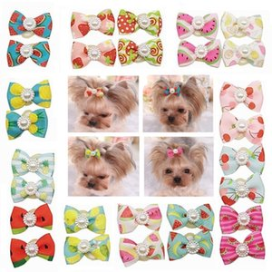 10pcs 20pcs in 1 Beautiful Small Dog Hair Bow Pet Grooming Headdress Accessories for Dogs Teddy Yorkshire Maltese dog