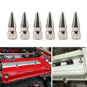 JDM 스타일 M6X1.0 크롬 스파이크 볼트 스파이크 밸브 커버 엔진 베이 드레스 세탁기 키트 혼다 엔진 시민 엔진 H23A1