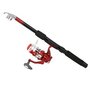 Fishing Rod And Reel Combo 5.1:1 Glowing Spinning Fishing Reel Rod Reel Combo
