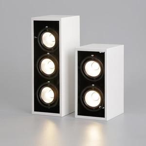 고품질 표면 장착 조정 LED COB 다운 라이트 AC85-265V 20W 30W LED 천장 램프 스포트 라이트 화이트 바디