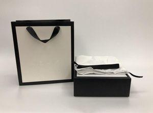 2020 venta caliente de 3.8CM nueva 3.4CM mujer de la correa de cuero negro genuinos de las correas de oficina Caja polvo especial de la cinta bolsa de papel bolsa de regalo de la factura