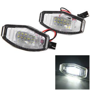 12V SMD 3528 Bianco Light 18 LED LED Lampada targa per Honda Accord 4D Civic Odyssey City 4D - 2PCS