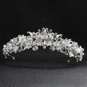 SOIRÉE Accessoires Marque argent à la main Nouveau mariée mariage strass cristal cheveux Bandeau Couronne Diadème Tiara Prom Pageant