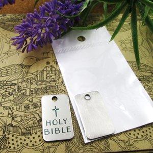 """40pcs - """"Bíblia Sagrada"""" encantos de aço inoxidável mais estilo para a escolha de Encantos pingentes DIY para colar"""