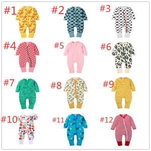 Autunno Inverno infante pagliaccetti dei ragazzi delle neonate pagliaccetto lungo del manicotto tuta Outfits vestiti del bambino appena nato del bambino che coprono per il 16 colori