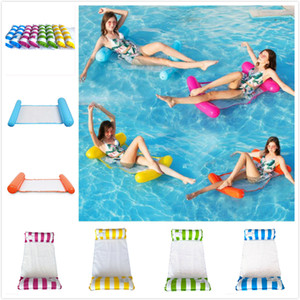 Summer Swimming Pool Inflatable Floating Bed Water Hammock Lounge Bed Chair Summer Inflatable Pool Float Floating Bed